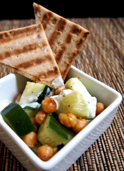 Cucumber Chickpea Salad