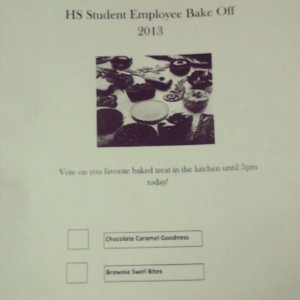 Housing Services Bake-Off (it was a tie)